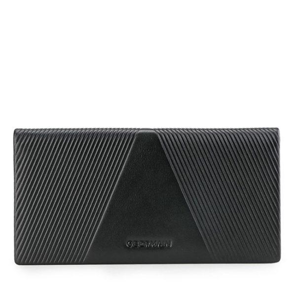 Rfid-Long Wallet In Black