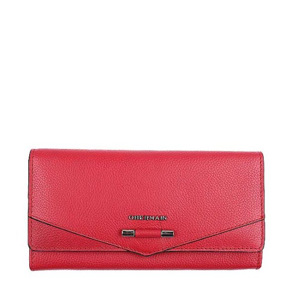Quin Long Flap Purse In Raspberry