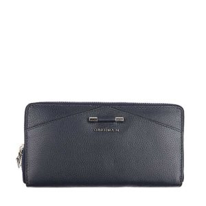 Quin Long Zip Purse In Navy
