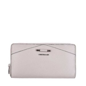 Quin Long Zip Purse In Taupe