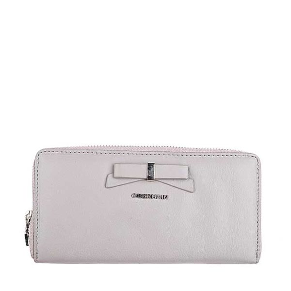 Ribonny Long Zip Purse In Taupe