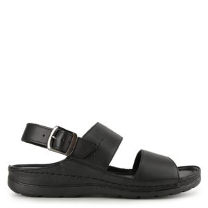 GINO EZIO SLING BACK in BLACK
