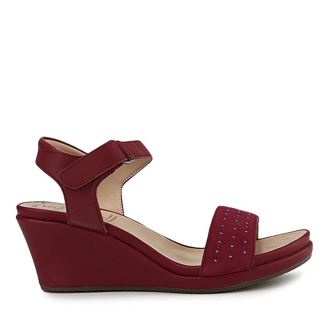 NOREE NADYA - ANKLE STRAP in RED