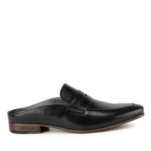 ALFRED TERRENCE - STRAP MULE in NAVY