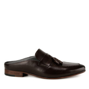 ALFRED TERRENCE - TASSEL MULE in DARK BROWN